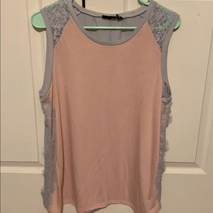 Pink & Gray Dressy Top